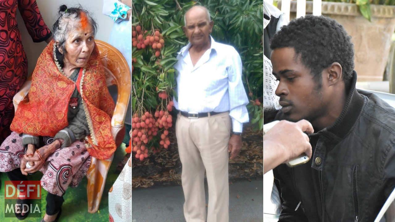 Savritee Koonjul, Deonarain Koonjul et Alvino Agathe