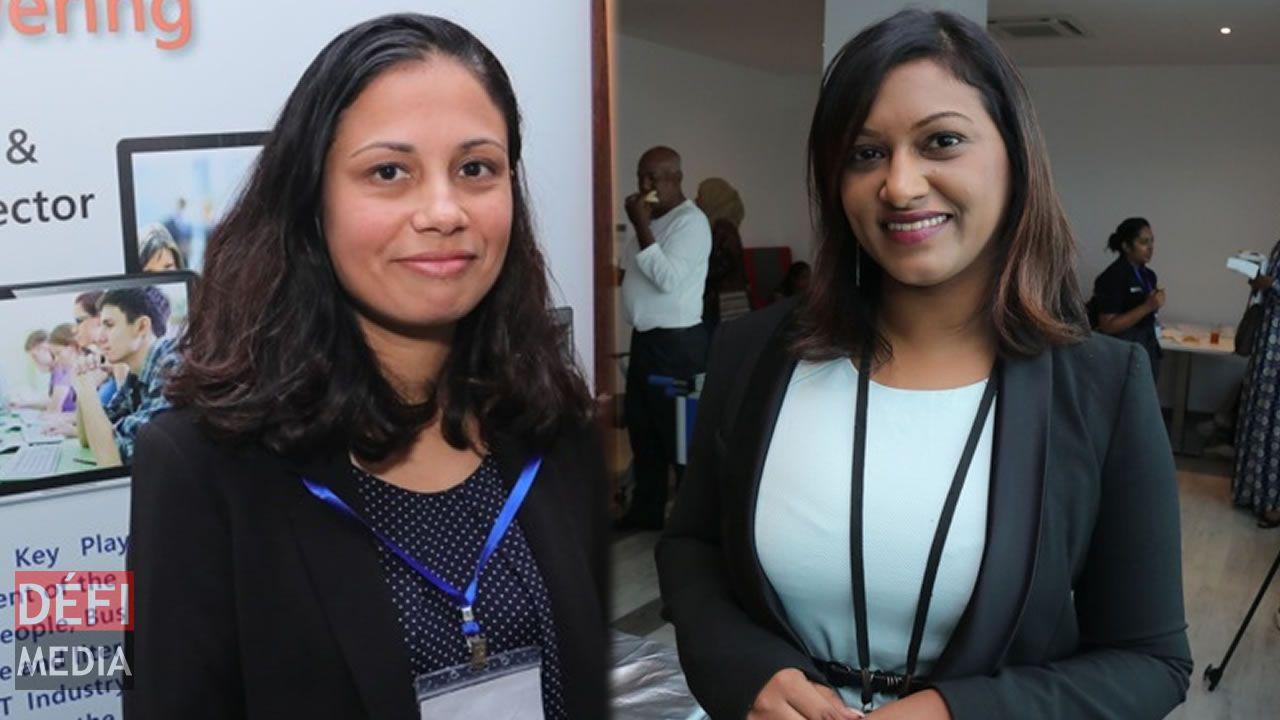 Joanne Esmyot et Dhanusha Gokhool.