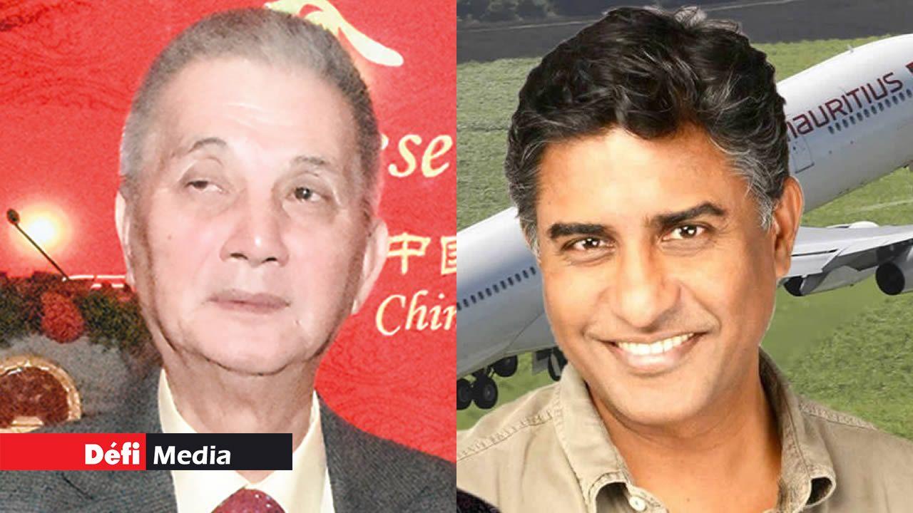 Selon Prem Sewpal (à dr.), s'il faut annuler les vols vers la Chine, Air Mauritius le fera, alors que Charles Ng (à g.) d'Atom Travel parle d'un manque à gagner.