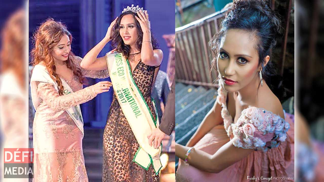 Elisa Rosse crowned Miss Eco Mauritius International