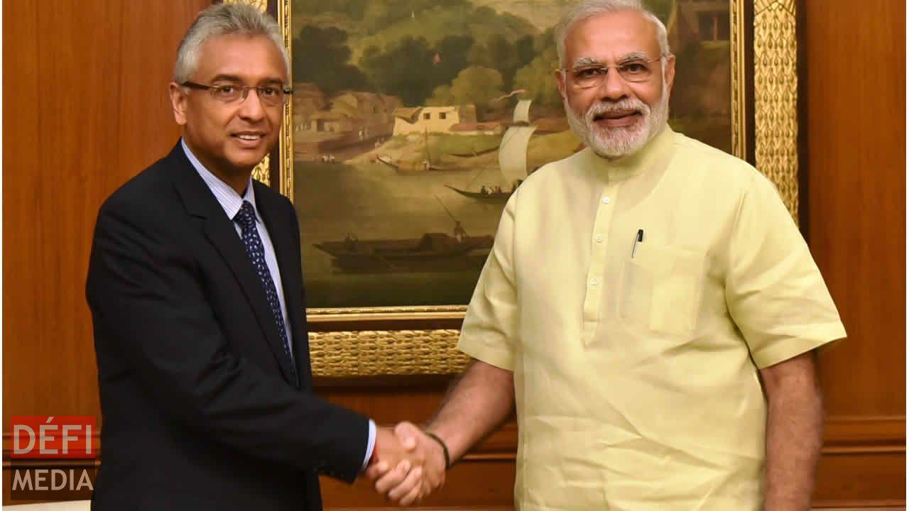 Pravind Jugnauth et Narendra Modi