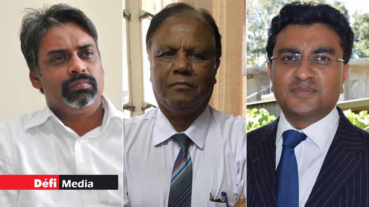 Maneesh Gobin, Pushpaduth Jugnarain et Yatin Varma
