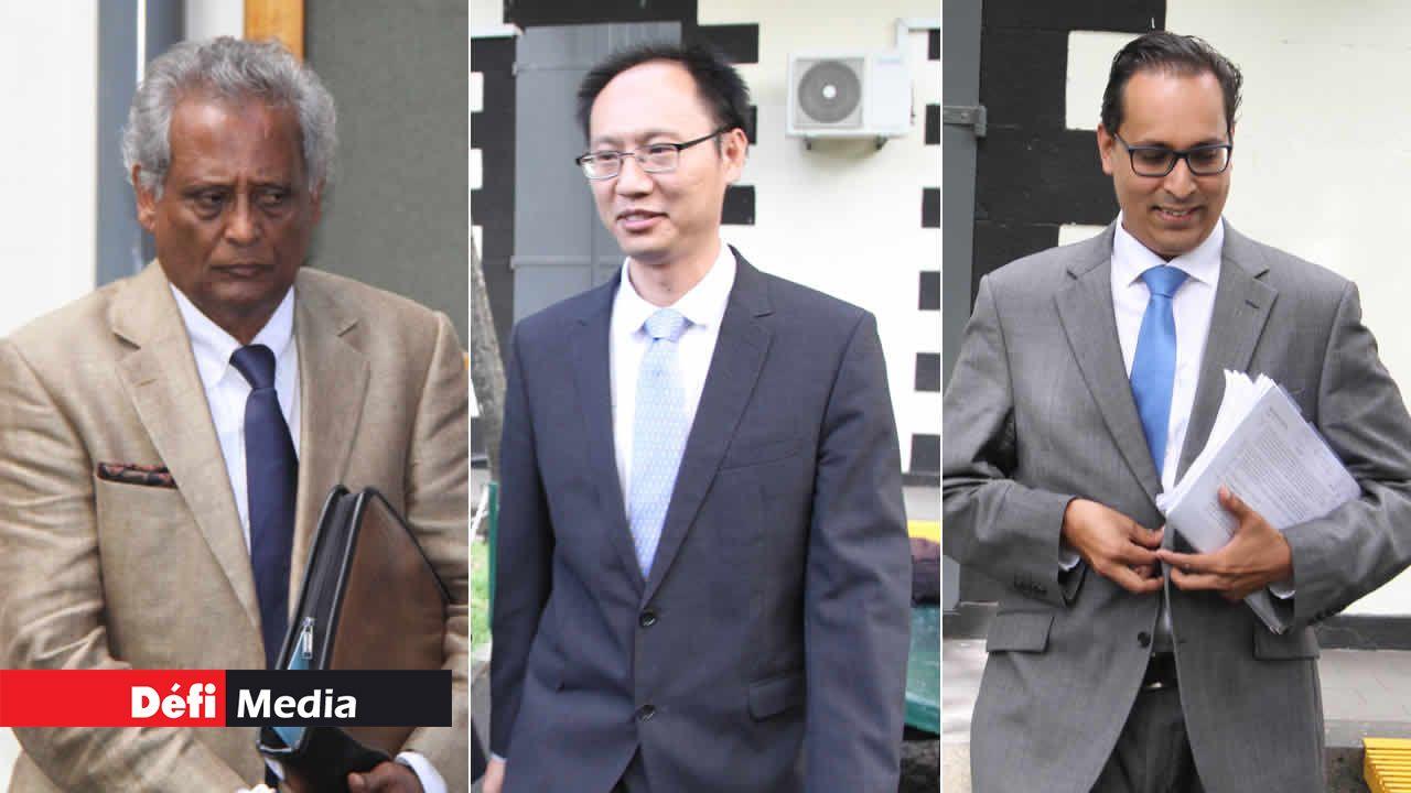 Gautam Saddul, Richard Li Tung Chung et Akilesh Deerpalsing.