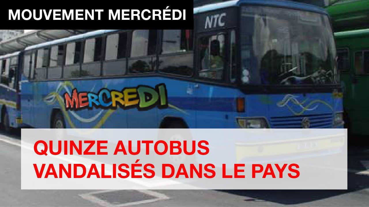 QUINZE AUTOBUS VANDALISÉS DANS LE PAYS
