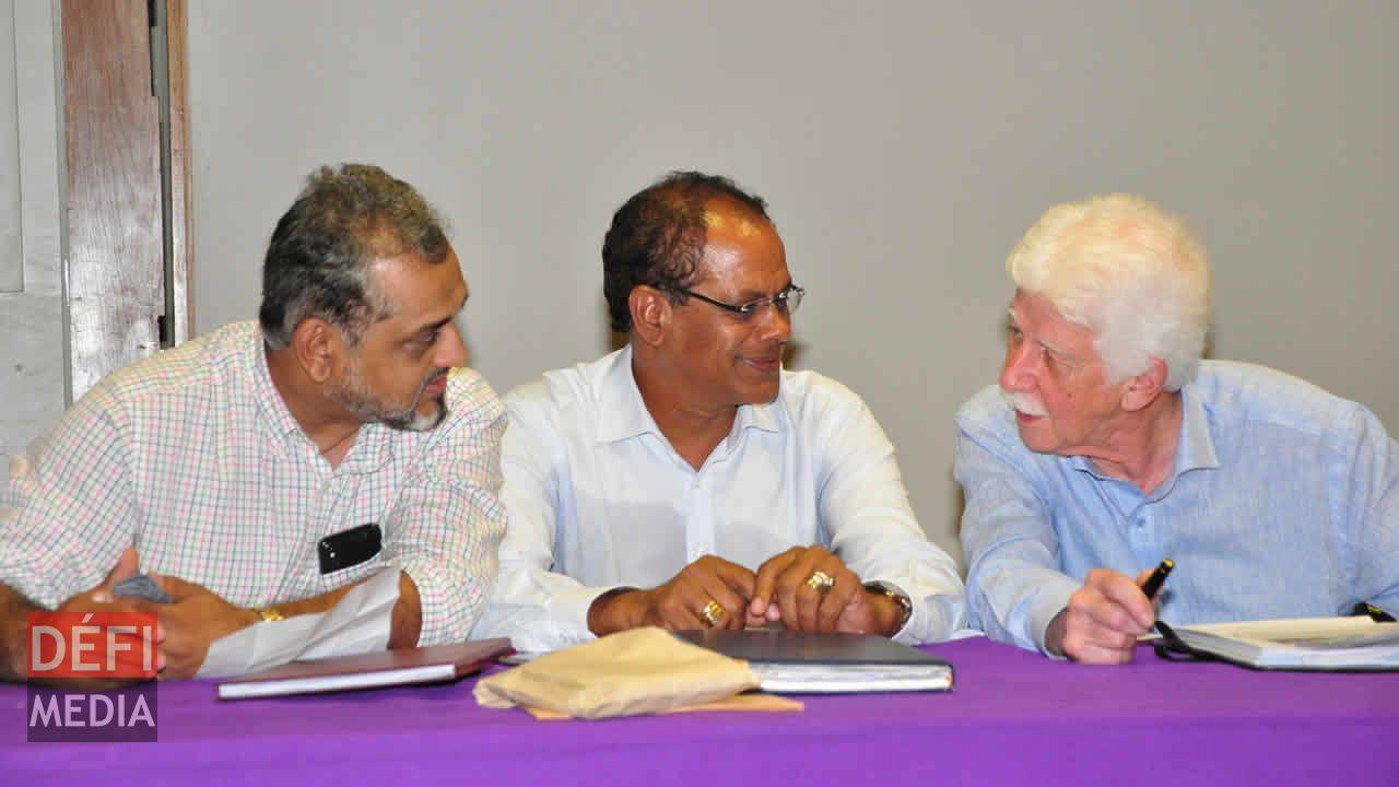 Reza Uteem, Ajay Gunness et Paul Bérenger