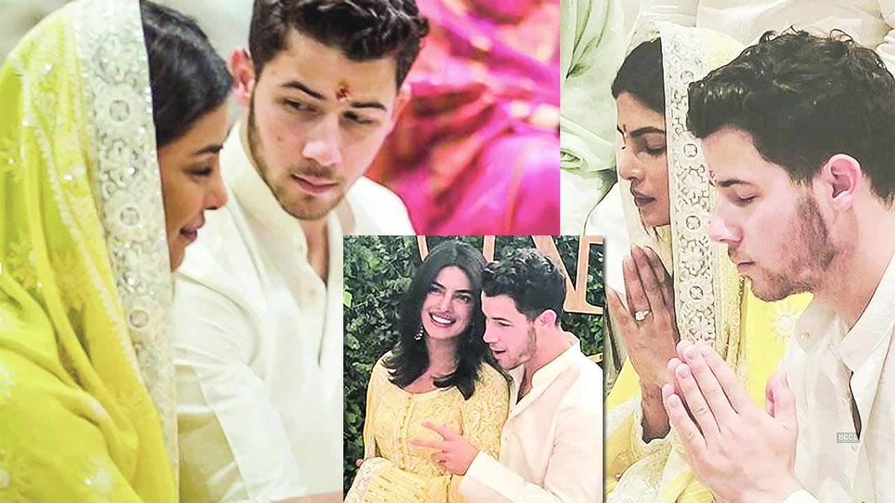 Les fiançailles de Priyanka Chopra et Nick Jonas ont eu lieu le 18 août,  selon le rite hindou à la résidence de l\u0027actrice, à Mumbai.