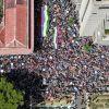 La marche citoyenne de l'opposition vue du ciel à 14 h 23