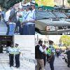 Private Prosecution : forte présence policière devant la New Court House