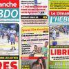 Voici la Une de Le Dimanche / L'Hebdo de ce dimanche 31 mai 2020