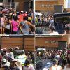Rassemblement des sinistrés devant l'Astor Court : les activités au bureau des passeports perturbées, la rue Lislet Geoffroy fermée