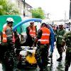 Avis de fortes pluies - la SMF et la police à Canal Dayot