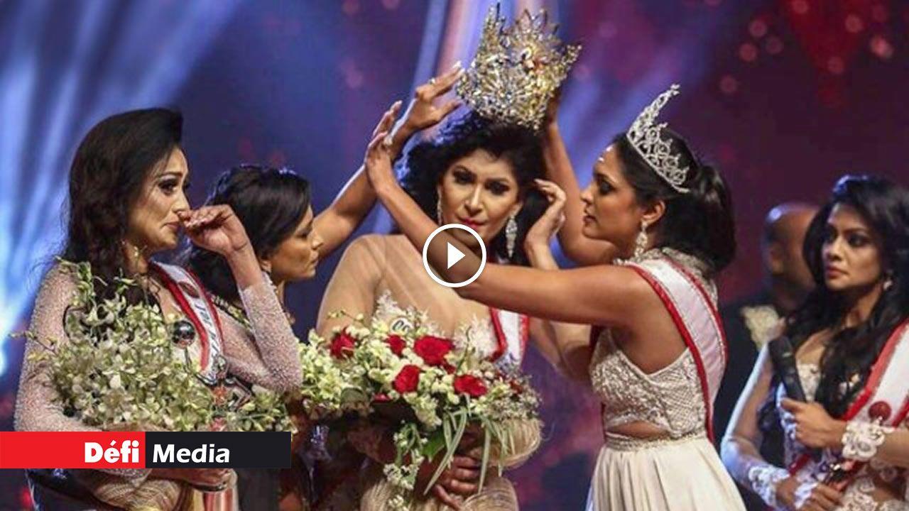 [Video] Sri Lanka : Mrs World arrêtée après un éclat et une agression sur scène